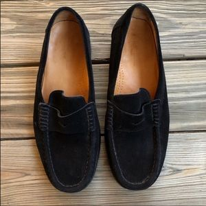 Dooney & Bourke Black Suede Loafers